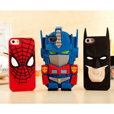 3D Cartoon Transformers Batman Silicone Phone Case Cover For iPhone 5S 6 7 Plus
