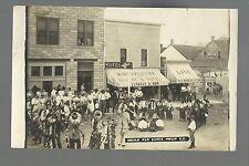 Philip SOUTH DAKOTA RP 1910 SIOUX INDIAN Drum Circle WAR DANCE Land Office