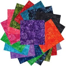 """200 Lacey Florals  pre cut charm pack 2 1/2"""" squares 100% cotton fabric quilt"""