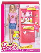 Barbie - Barbie Doll and Glam Refrigerator Playset