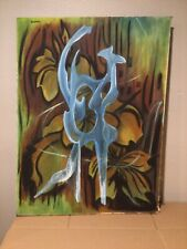 Vintage Large Abstract Signed  -  Xceron