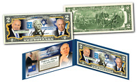 BENJAMIN NETANYAHU Israel Prime Minister GENUINE Legal Tender U.S. $2 Bill