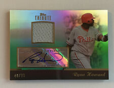 2011 Topps Tribute Ryan Howard Auto Jersey /75 Phillies