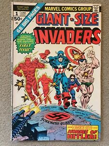 Giant-Size INVADERS #1 marvel 1975 bronze age 1st appearance of Invaders VF/VF+