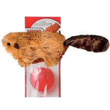 KONG Beaver Small No Stuffing Dog Plush Squeaker Toy Unstuffed Stuffing free NQ3