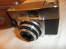 RANGE finder fotocamera AGFA Silette RAPID I con 1:2,8/45 lens + CUSTODIA IN PELLE 51