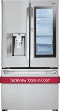 LG 36 Inch French-Door Refrigerator-Stainless Steel DOOR IN DOOR INSTAVIEW