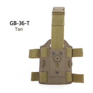 WoSporT Tactical Double Strap Drop Leg Platform Holster Panel Adapter Leg Shroud