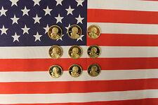 2000-2008 S Native American Sacagawea Proof Dollar Run Gem DCam US 9 Coin Set