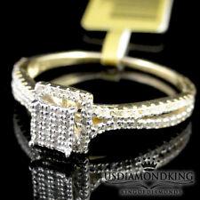 Ladies Women's .30ctw Genuine Real Diamond 10k Yellow Gold Engagement Ring Band