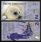 Arctic Territories, $2, 2010, Polymer, UNC Baby Seal, Type 2