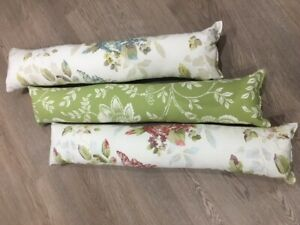 Draught Excluder Fabric Cotton 3 Designs Door Window Draught Cushion Guard
