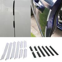 8Pcs/Set Car Door Edge Guards Trim Molding Protection Stripes Scratch Protector