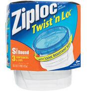Ziploc  Twist N Lock  16 oz. Food Storage Container  3 pk Clear
