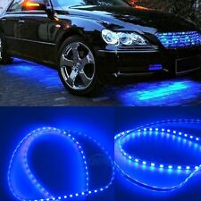 4Pcs Car Blue Body Glow Neon LED Lighting Undercar Underbody Strips For Chrysler