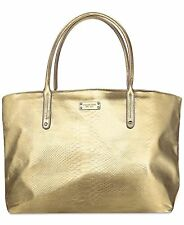 MICHAEL KORS gold metallic tote bag purse shopper shoulder handbag travel NEW