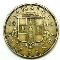 JAMAICA :1940 -1/2  HALF PENNY  Nickel-Brass COIN- KM# 31 RARE !