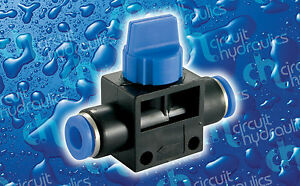Push Fit 8mm Flow Tap - Water Fed Pole WFP