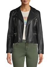 Scoop Women's Faux Leather Jacket, Black, Small