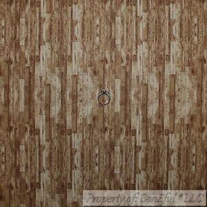 BonEful Fabric Cotton Quilt Brown Tone Barn Wood Floor Farm Stripe Blender SCRAP
