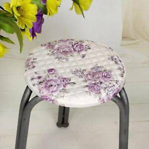 Round Chair Seat Stool Cover Home Fabric Elastic Belt Cushions Sleeve Slipcover