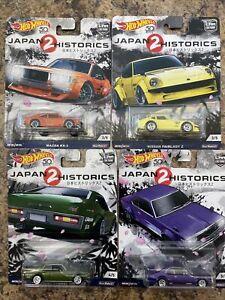 HOT WHEELS CAR CULTURE JAPAN HISTORICS 2 SET OF 4 NISSAN FAIRLADY Z RX3