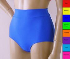 High Waisted Bikini Bottom in Red,Blue,Purple,Green,Orange,Yellow,Turq,Fuschia
