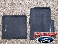 12 thru 14 F150 F-150 OEM Genuine Ford Black Carpeted Floor Mat Set 2-pc w/ Logo