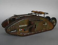 XL Blechmodell Panzer Tank Mark 34cm 1. Weltkrieg WK1 Great Britain Metallmodell