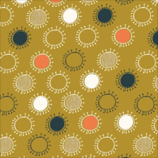 Organic Cotton Fabric, 'Afternoon Sun, Lisbon Square' Cloud9 Quilters Cotton