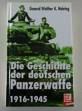 Ouvrage Spécialisé Motor-Buch-Verlag La Histoire Le Allemand Panzerwaffe 1916 -