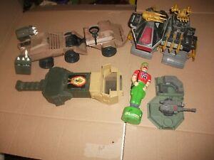 "1980s-90  # 718 batch LOT Vintage 3 3/4"" Gi Joe vehicle & figure parts"