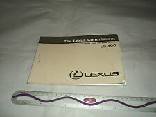 Lexus LS400 1984 Warranty And Service Book SH
