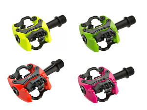 iSSi Flash II Aluminum Dual-Sided SPD Clipless MTB Pedals