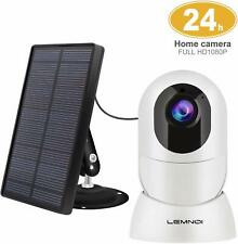Lemnoi CCTV Wireless Solar Powered INCLUDED 1080P Wifi Night Vision *2-way audio