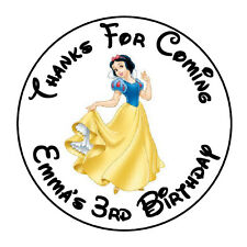 """24 PERSONALIZED SNOW WHITE BIRTHDAY PARTY FAVOR LABELS STICKERS 1.67"""""""