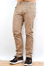 Jeckerson Mens Jeans Brown Made in Italy Pants Trousers  Straight SLIM W31 Good