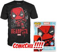 "Funko POP! T-Shirt ~ DEADPOOL ""Shots Shattered"" ~ Marvel Comics Tees"