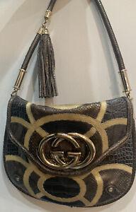 Gucci GG Patchwork Croco/Python/Liz Bag Authentic Rare Unique Limited Edition