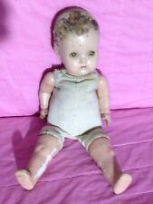Vintage Composition Baby Doll 17 Inches Cloth Body