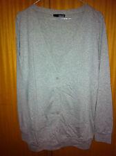 Cardigan cotone grigio ASOS grey cotton cardi UK10 EU38 IT42