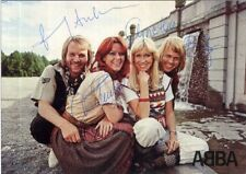 ABBA Signed Photograph - Swedish Pop Stars (Eurovision Winners 1974) preprint