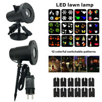 Outdoor Xmas Garden LED Moving Laser Projector Light Landscape Halloween Party