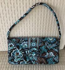 Vera Bradley Java Blue Just a Knot Clutch Bag Purse Handbag Detachable Strap EUC