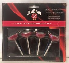 New listing Jim Beam Steak And Poultry 4 Piece Mini Thermometer Set New in Package