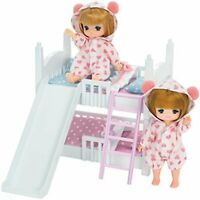 Takara Tomy Licca Doll Miki & Maki Bunk Bed Set doll not included F/S w/Track#