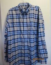 MENS St.JOHN's BAY Long sleeve shirt X LARGE/TALL Blue/Tan EASY CARE VGUC