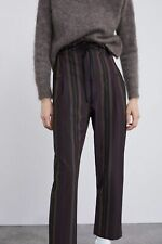 ZARA | Womens Striped Print High waisted Pants [ Size M or AU 12 or US 8 ]