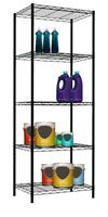 Home Basics NEW Black 5 Tier Layer Wire Shelf Organize Garage Shelving - WS00695