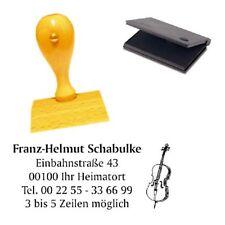 Adressenstempel « CELLO » mit Kissen - Firmenstempel - Musiker Musiklehrer